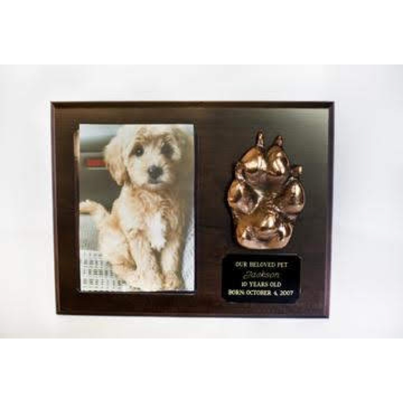 pet plaque black